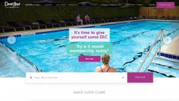 David Lloyd Clubs website homepage